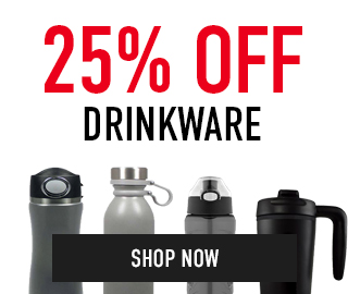 25% off Drinkware. Click to shop now.