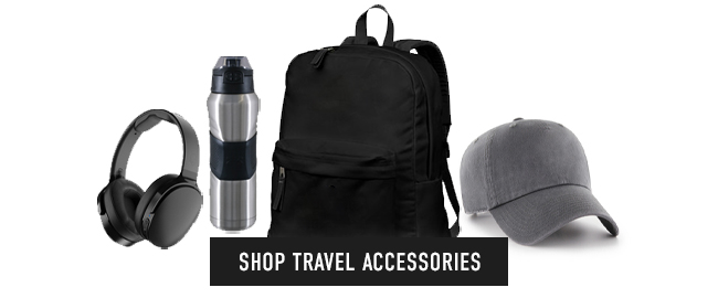 Picture of merch. Click to shop Travel Accessories.