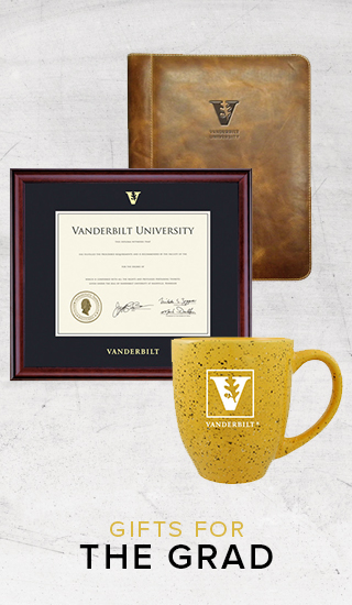 Picture of diploma frame and logoed drinkware. Click to shop gifts for the grad.