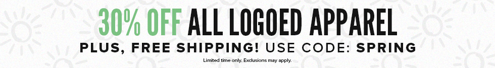 30% off all logoed apparel, plus free shipping. Used code: SPRING.