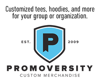 Customized tees, hoodies, and more for your organization. Click to shop Promoversity Custom Merchandise.