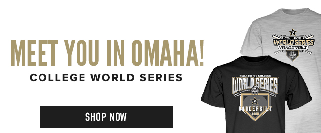 Picture of shirt. Meet you in Omaha! College World Series. Click to shop now.