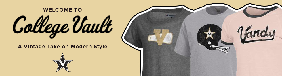 Picture of shirts. Welcome to College Vault. A vintage take on modern style. Click to shop now.
