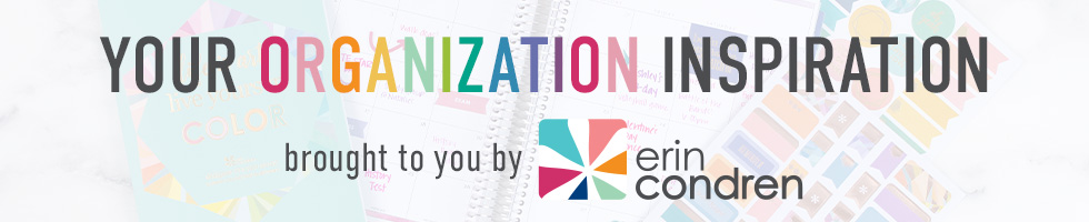 Your organization inspiration. Brought to you by Erin Condren.